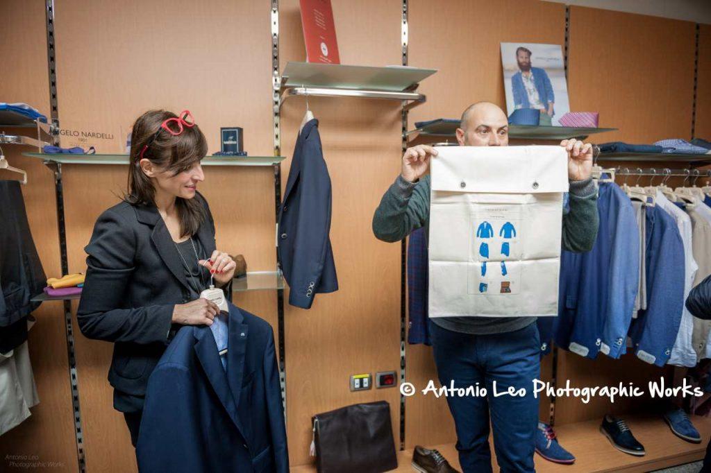 Innovazione nella moda italiana - sacchetto istruzioni giacca uomo Connemara
